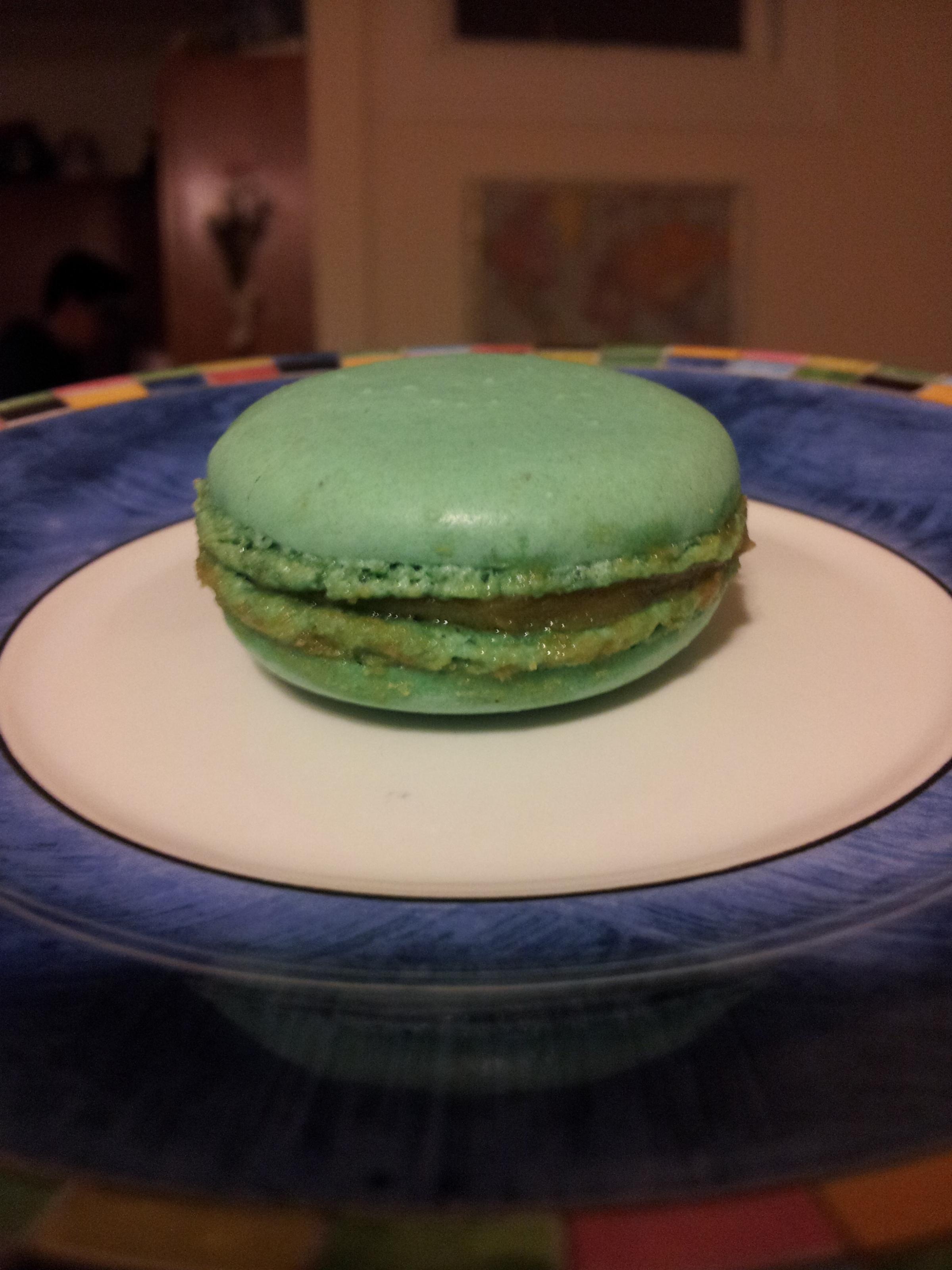 newest flavor Marie Antoinette a light, citron and honey macaron.