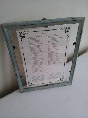 Framed Wedding ProgramDIY