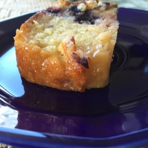 Blueberry Lemon Yogurt Cake with Citron Glaze