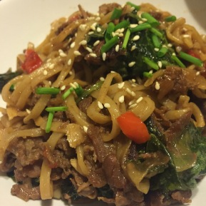 Yum Yum sweet & savory & saucy Asian beef noodles (featuring shavedsteak)