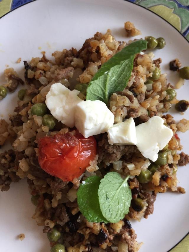 Spiced Mediterranean Cauliflower Rice