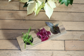 Looking for a unique, organic gift? Reclaimed Wood Planters & Candle Holders, crafted in NYC // with my barehands