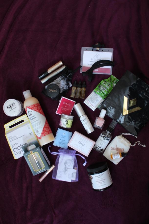 organic beauty brands - well summit swag bag