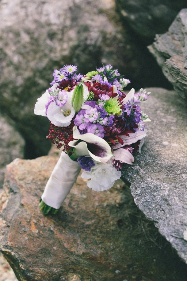 Wine-Colored Wedding Bouquet